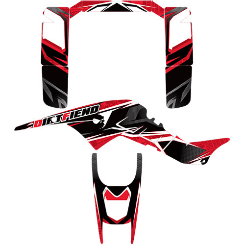 "Fullbore Plastics TRX250R GRAPHICS ""TRACTION"""