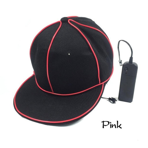 BLACK NEON LED CAP