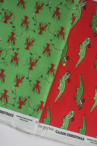 Fabric: Cajun Christmas Crawfish