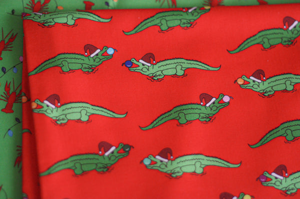 Fabric: Cajun Christmas Alligators