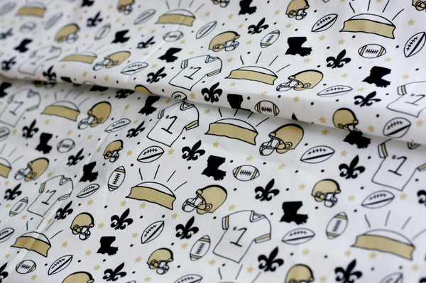 New Orleans Football | 100% Cotton Woven Fabric