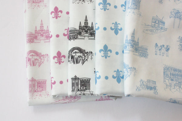 Fabric: New Orleans Toile - Blue | 100% Cotton Woven