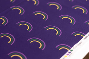 Mardi Gras Rainbows | 100% Cotton Woven Fabric