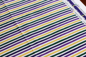 Mardi Gras Painter's Stripes | 100% Cotton Woven Fabric