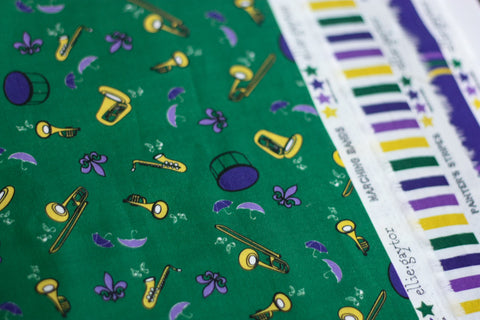 Mardi Gras Marching Bands | 100% Cotton Woven Fabric