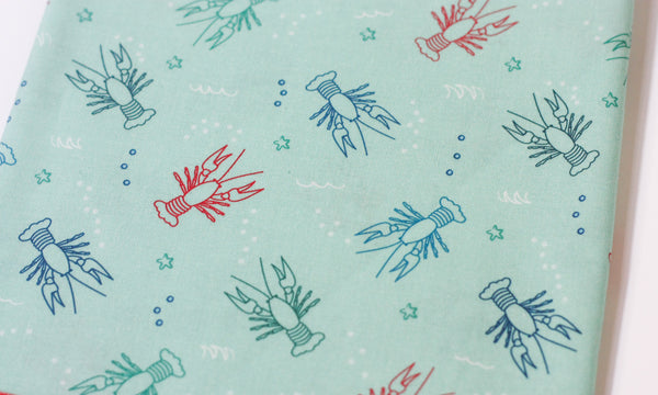Fabric: Crawfish in Mint