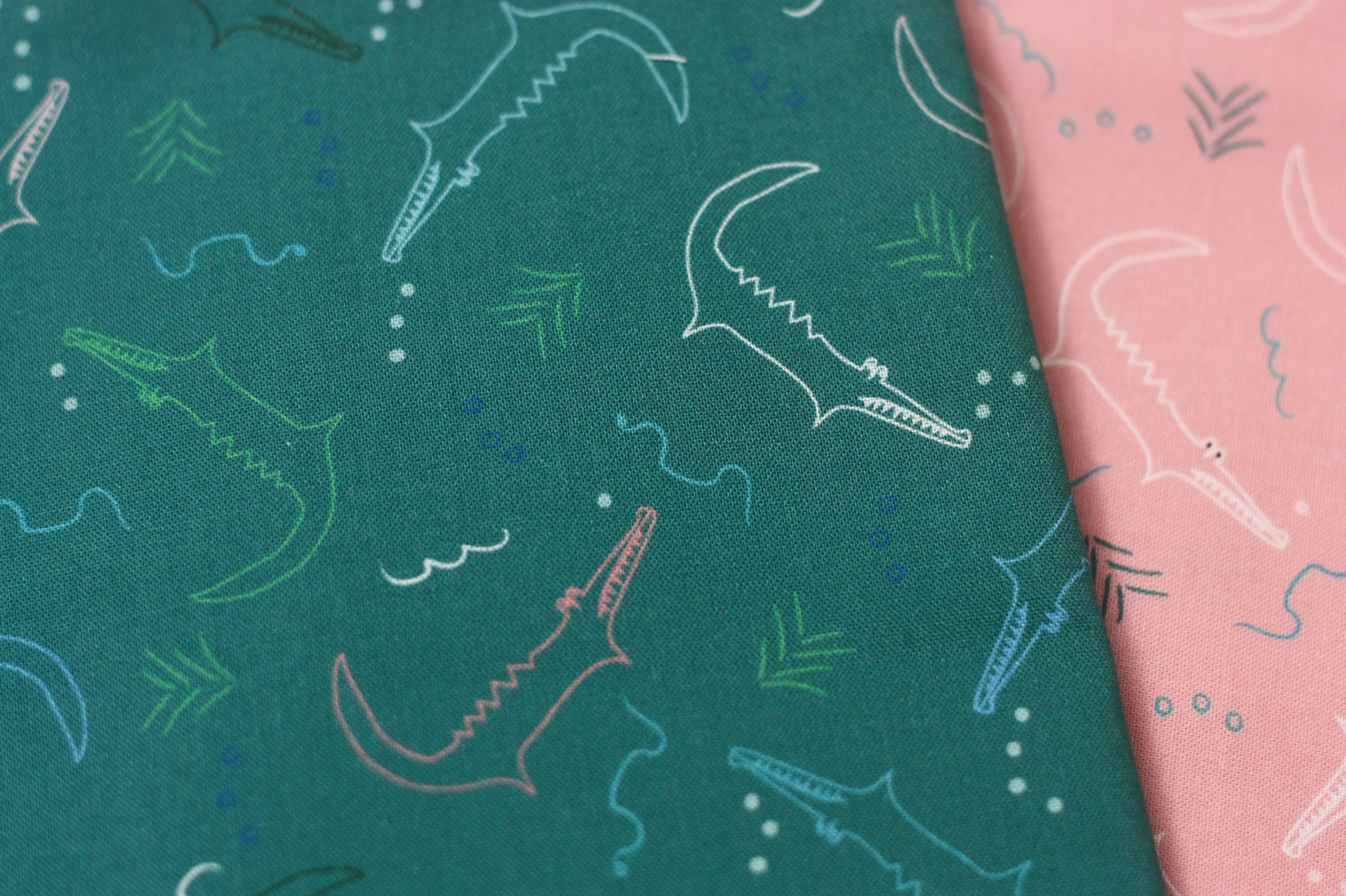 Fabric: Alligators in Jade