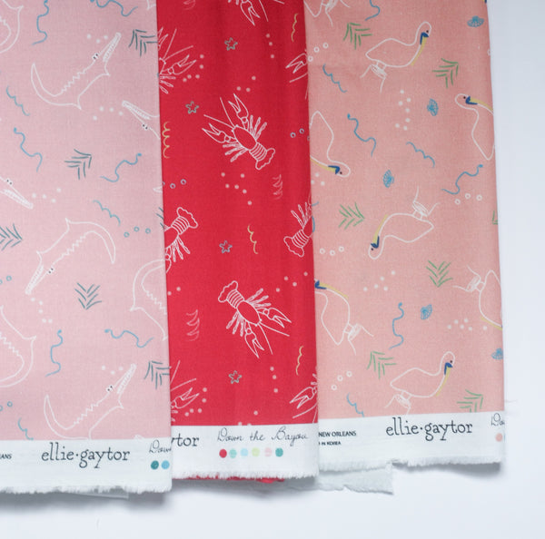 Fabric: Alligators in Blush