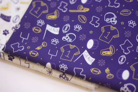 Fabric: Team Spirit in Purple