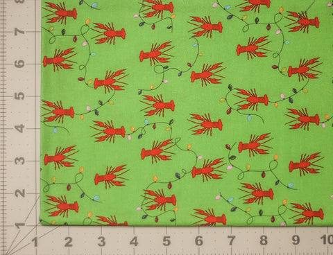 *Pre-Sale* Fabric: Cajun Christmas Crawfish