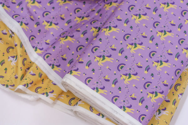 Fabric: Mardi Gras Krewe of Unicorns (Purple) | 100% Cotton Woven Fabric