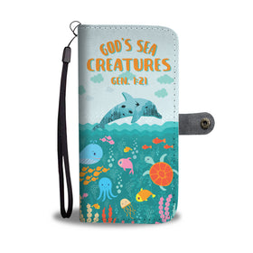 God's Sea Creatures Ocean Wallet Phone Case