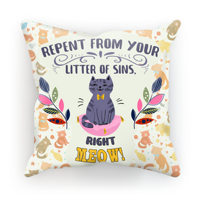 Wise Cat Normal Cushion Cover