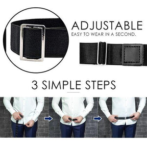 -60/%OFF Easy Shirt Stay Adjustable Belt Original Quality