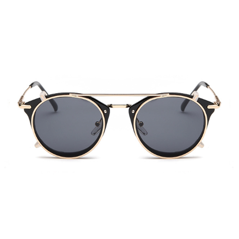 The Gotham Thin in Gold Frames & Black Lenses