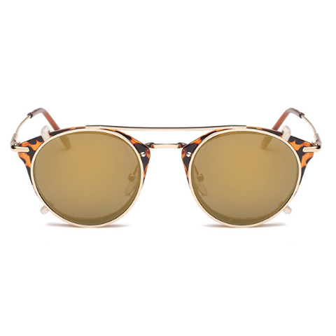 The Gotham Thin in Leopard & Tea Lenses