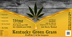 750mg Full-Spectrum CBD Oil | Small Batch C02 Extract | Mackville Estate