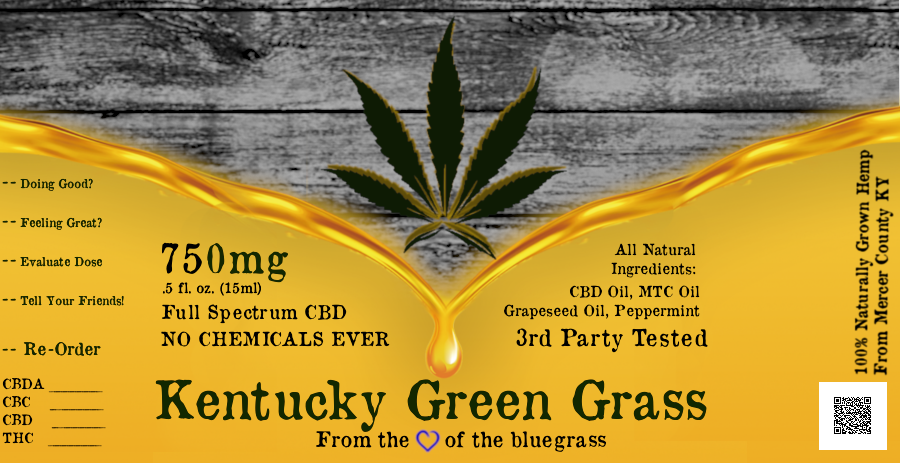 Kentucky Green Grass Small Batch 750mg Full-Spectrum CBD
