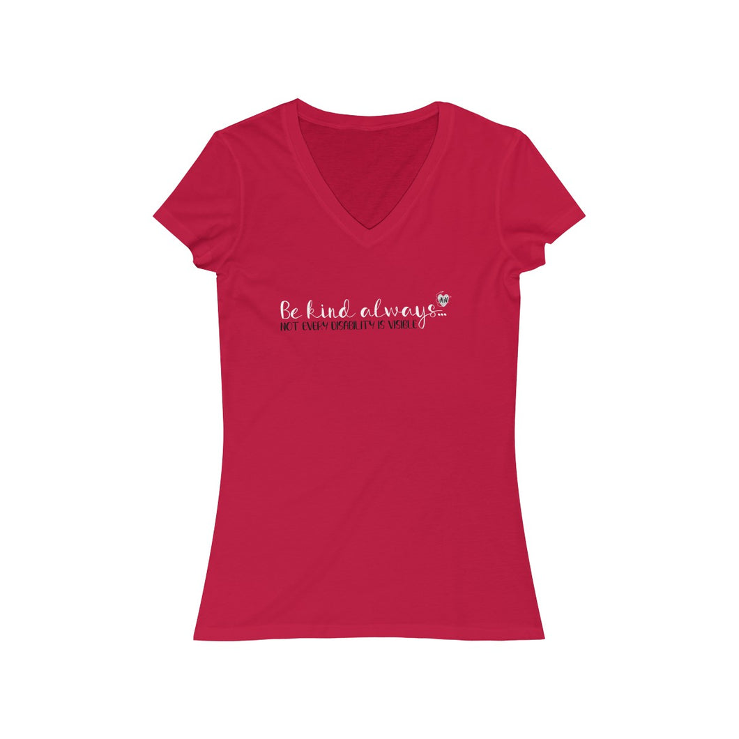 Copy of Women's Jersey Short Sleeve V-Neck Tee invisible