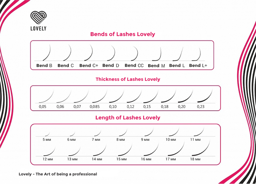Classic Eyelash Extensions - 6 lines MIX