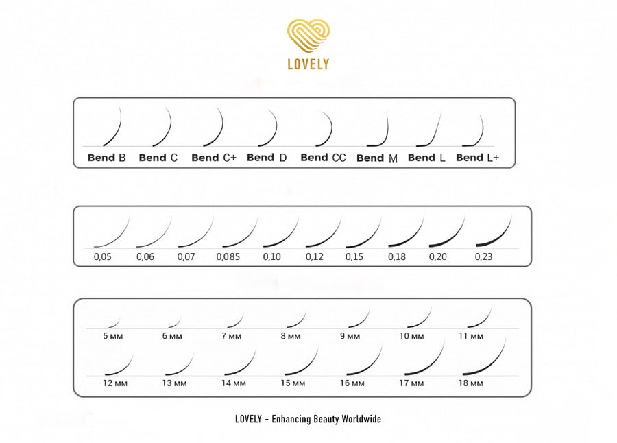 Ideal Eyelash Extensions - 20 lines Mix