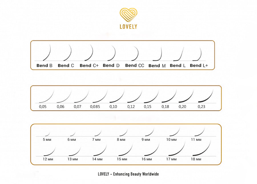 Royal Eyelash Extensions - 16 Lines MIX