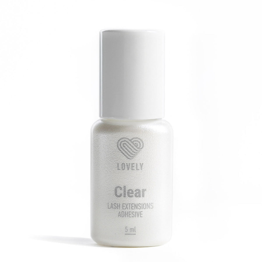 Clear Eyelash Extension Glue, lash adhesive great for colored or brown lashes.