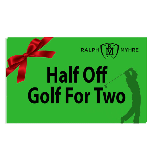 Half Off Golf for 2 at the Ralph Myhre Golf Course!