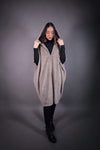 HNA collection Pull Cape fourrure beige - OUTLET