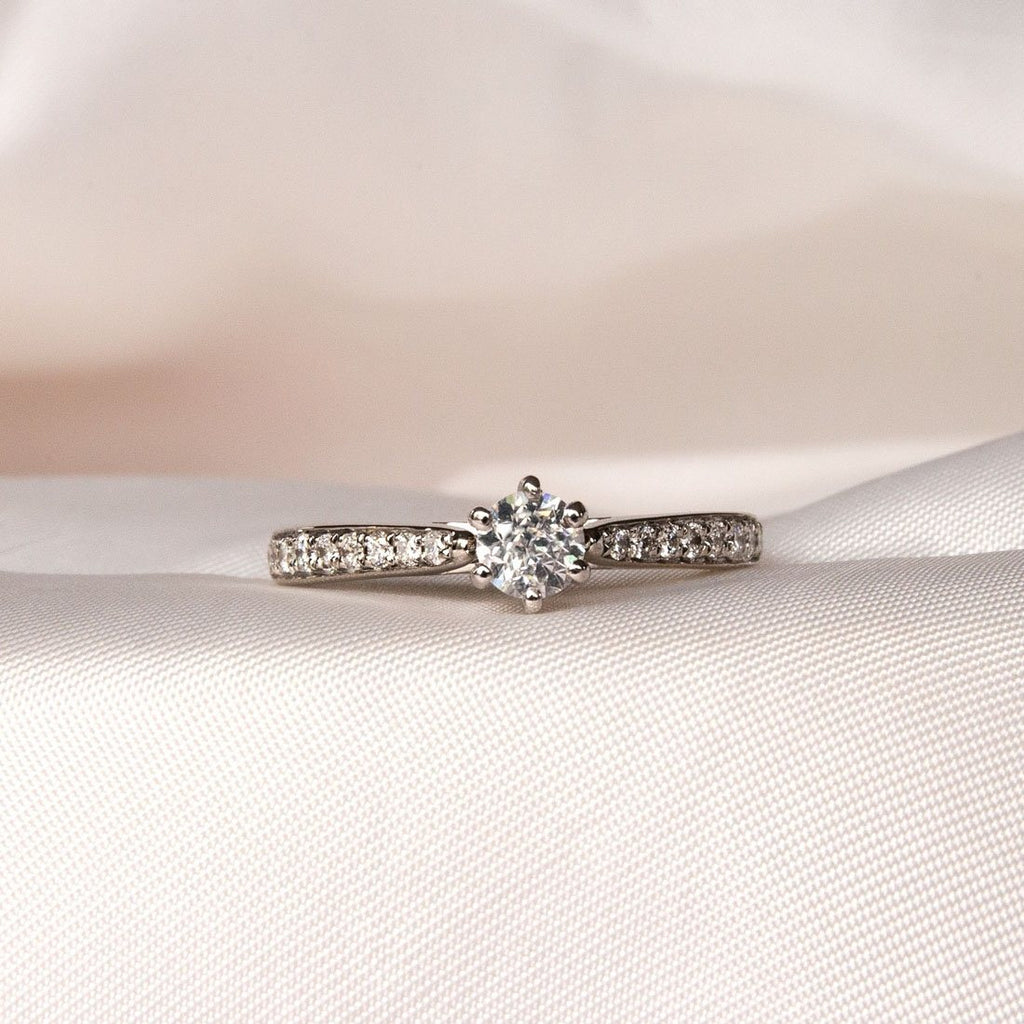 Facets of Love 18ct White Gold 1/2ct Diamond Ring Rings Bevilles