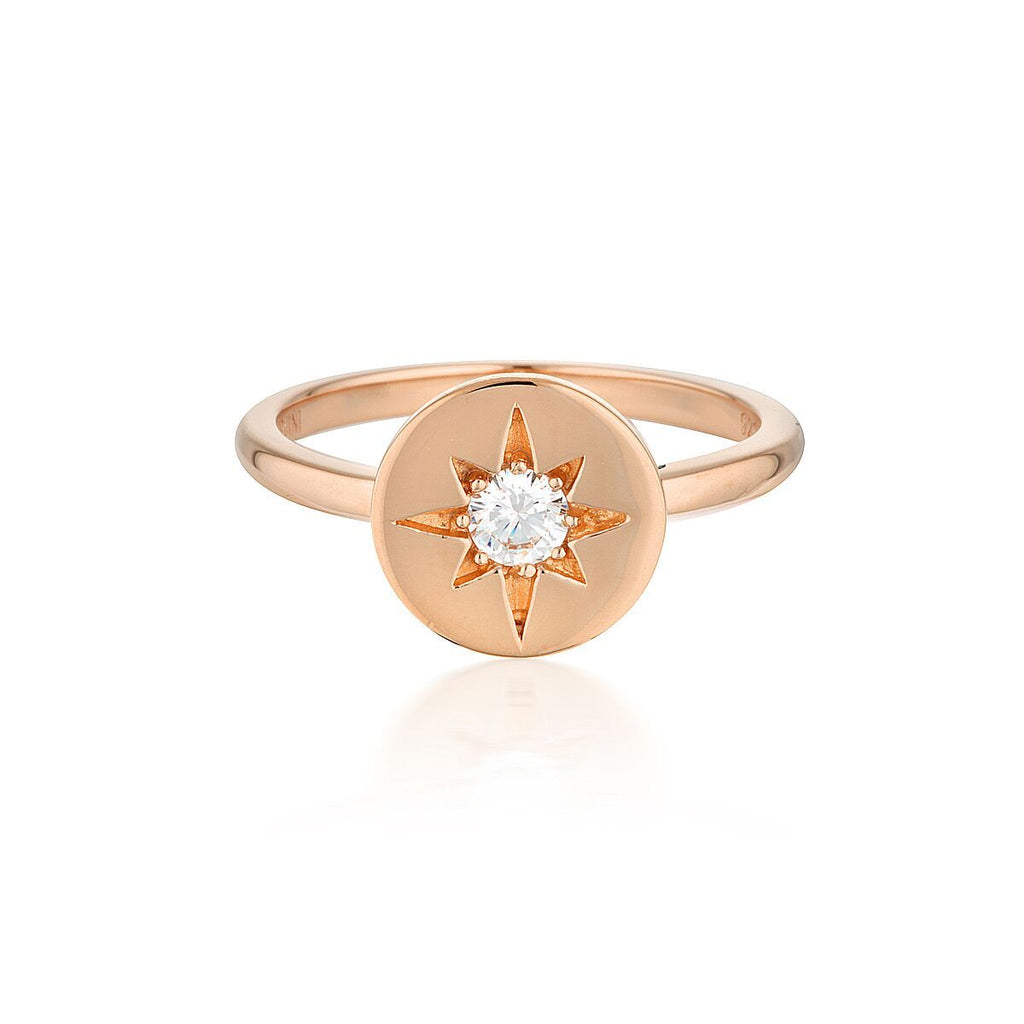 STELLAR LIGHTS ROSE GOLD RING Bevilles Jewellers