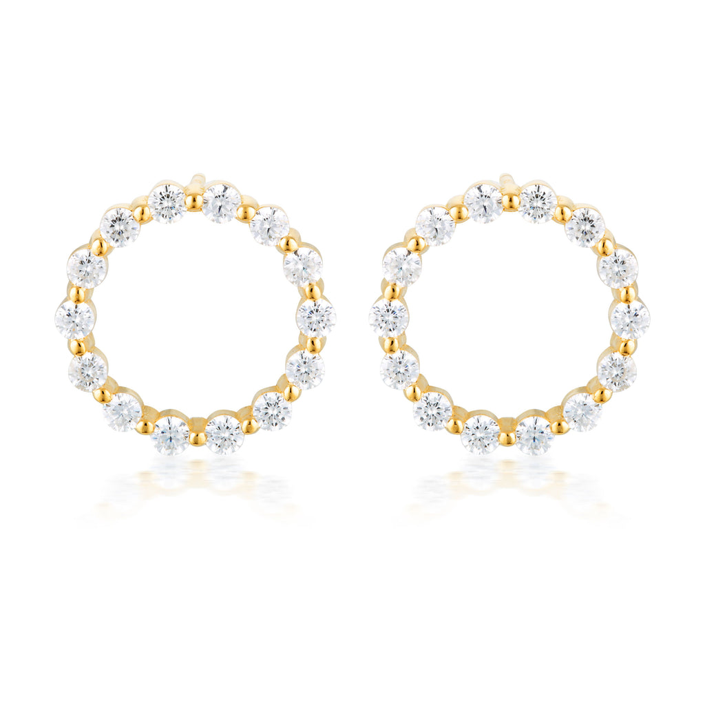 SMALL CIRCLE OF LIFE EARRING - GOLD Bevilles Jewellers
