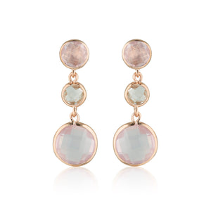 Georgini Diantha Rose Quartz Drop Earrings