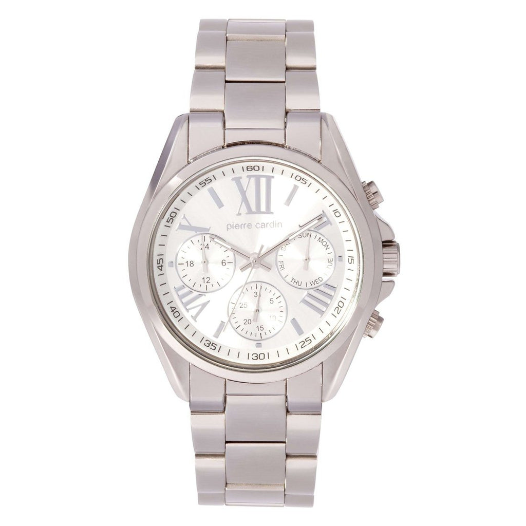Pierre Cardin Silver Chronograph Watch 5417 Watches Pierre Cardin