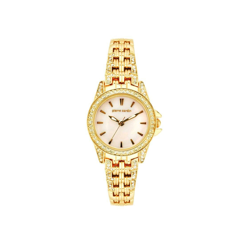 Pierre Cardin Gold Stone Set Watch 5690