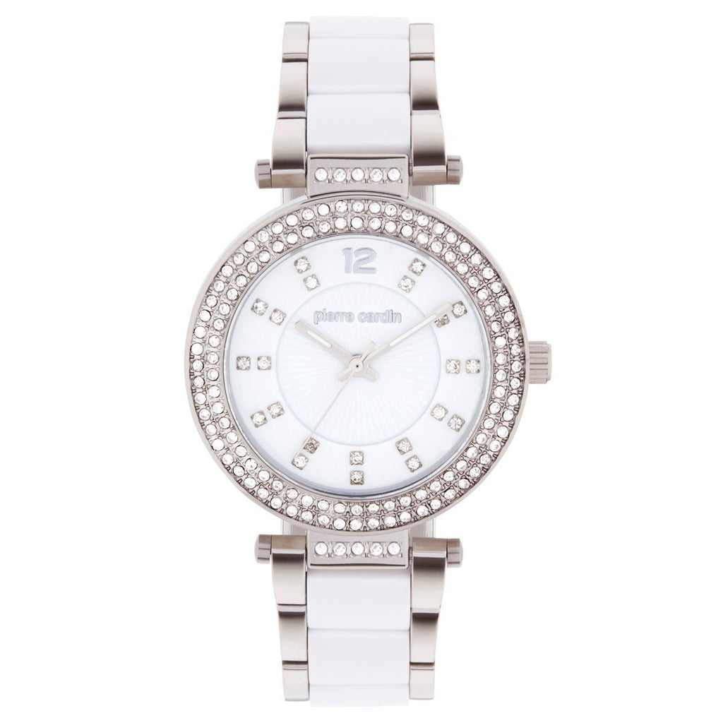 Pierre Cardin Ladies White & Crystal Watch 5536 Watches Pierre Cardin