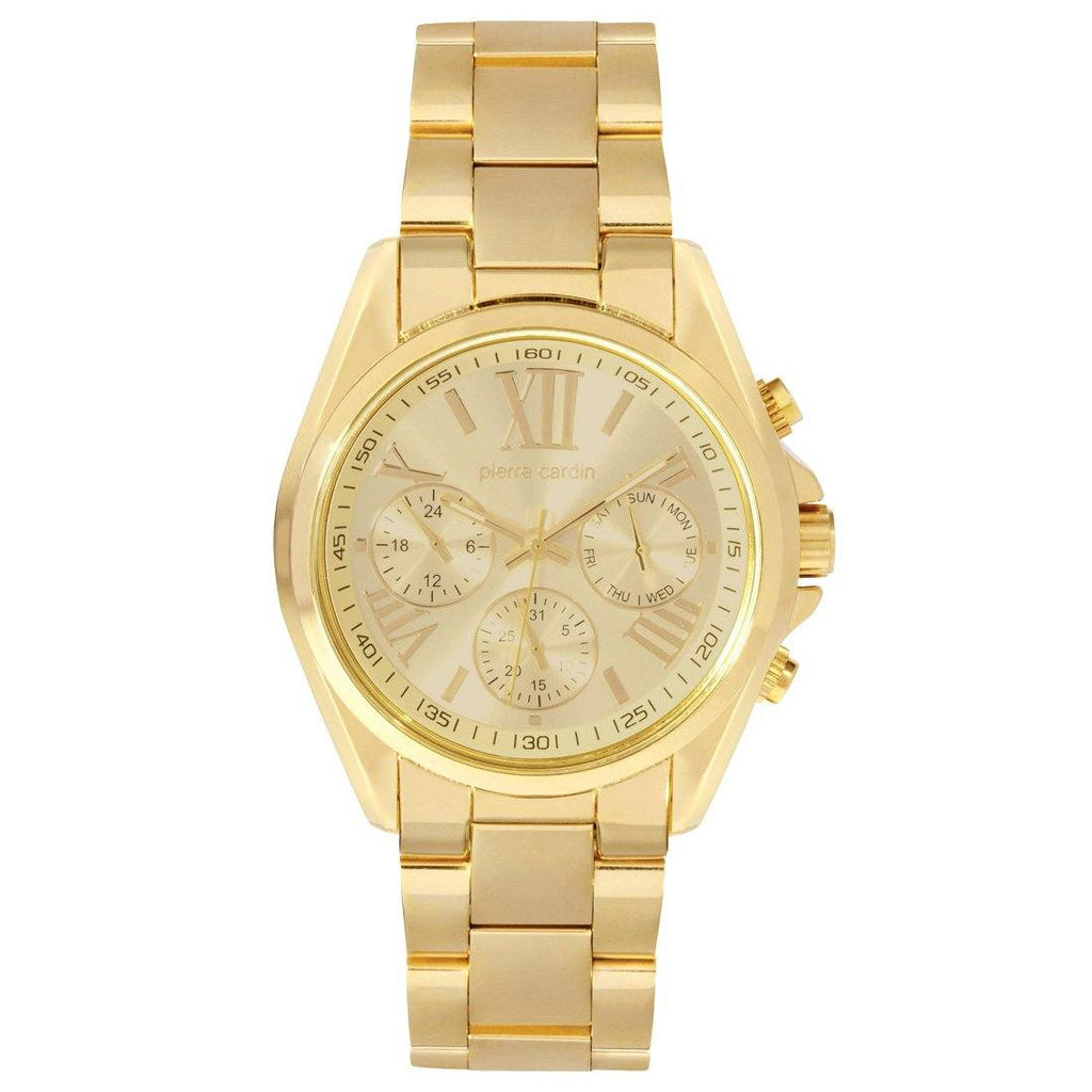 Pierre Cardin Gold Chronograph Mens Watch 5418
