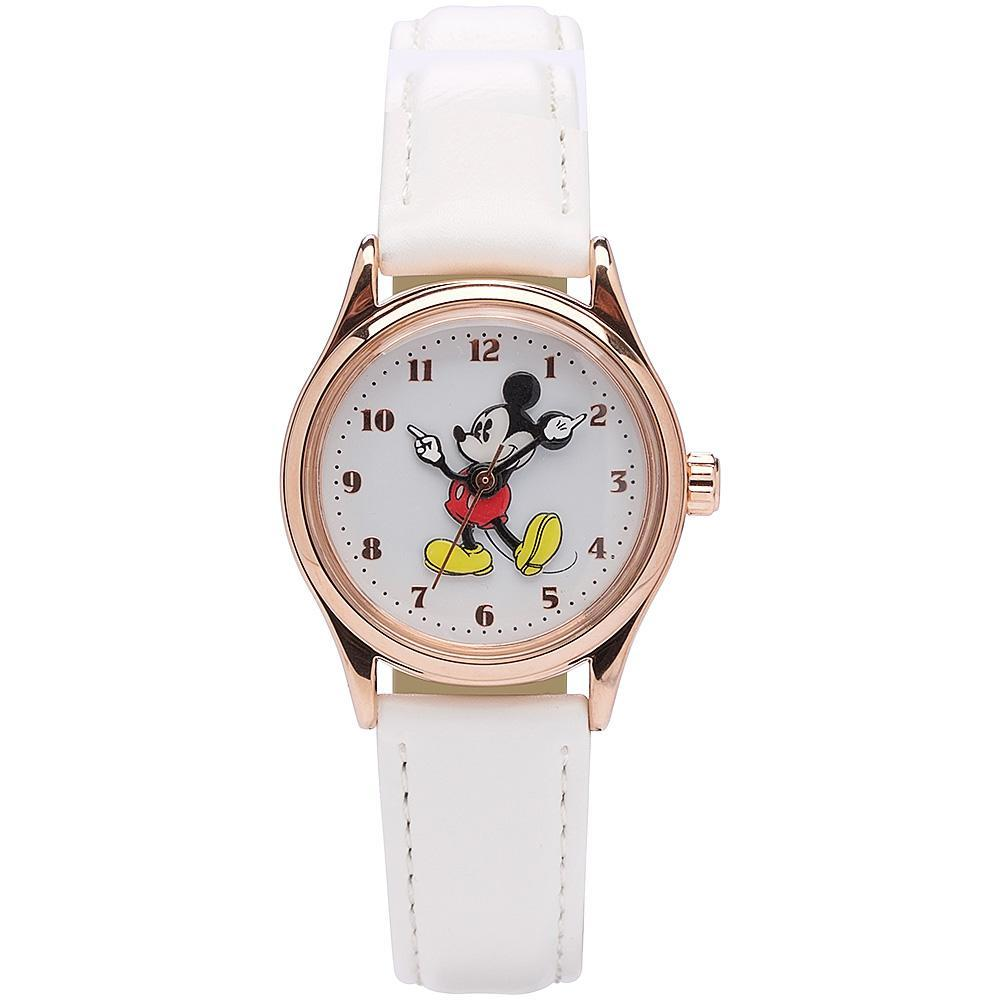 Disney Original Mickey Mouse White Leather Watch Watches Disney