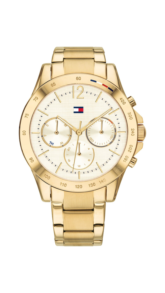 Tommy Hilfiger Gold Steel Ladies Multi-function Watch Watches Tommy Hilfiger