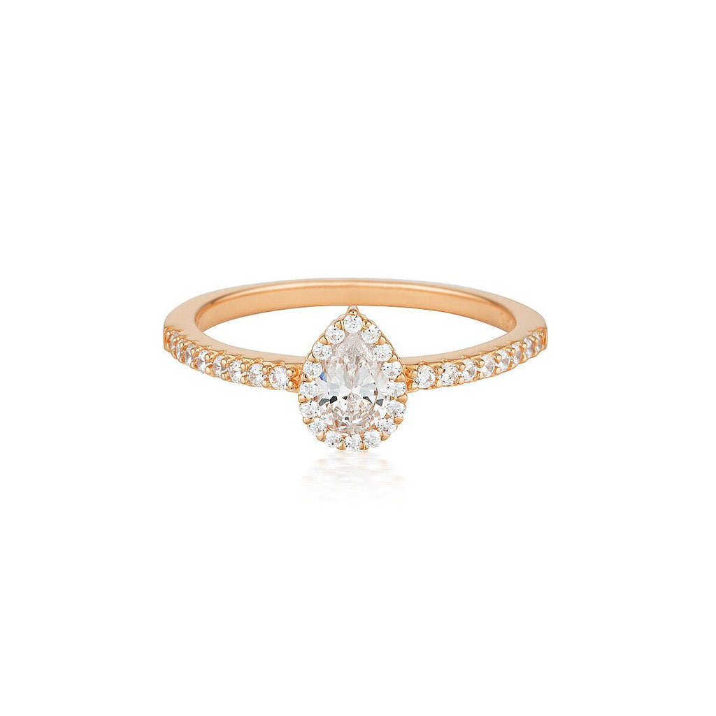 Georgini Monaco Rose Gold Ring Bevilles Jewellers