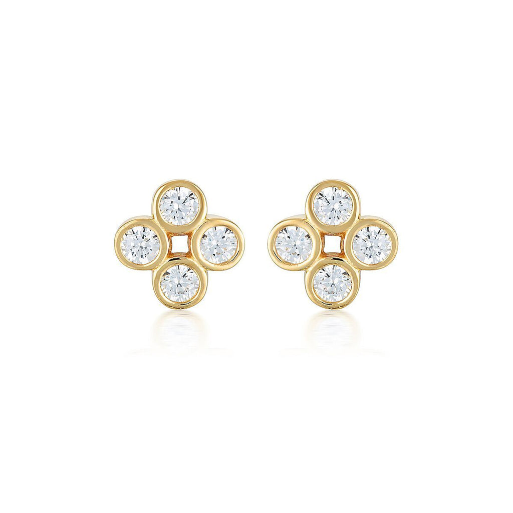 STELLAR LIGHTS GOLD TWINKLE STUDS Bevilles Jewellers
