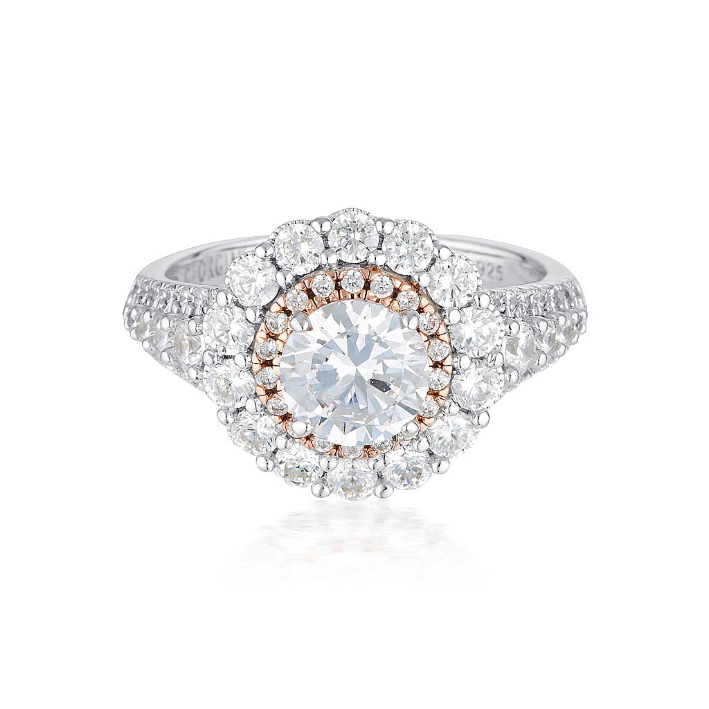 MIRANNA DOUBLE HALO RING Bevilles Jewellers