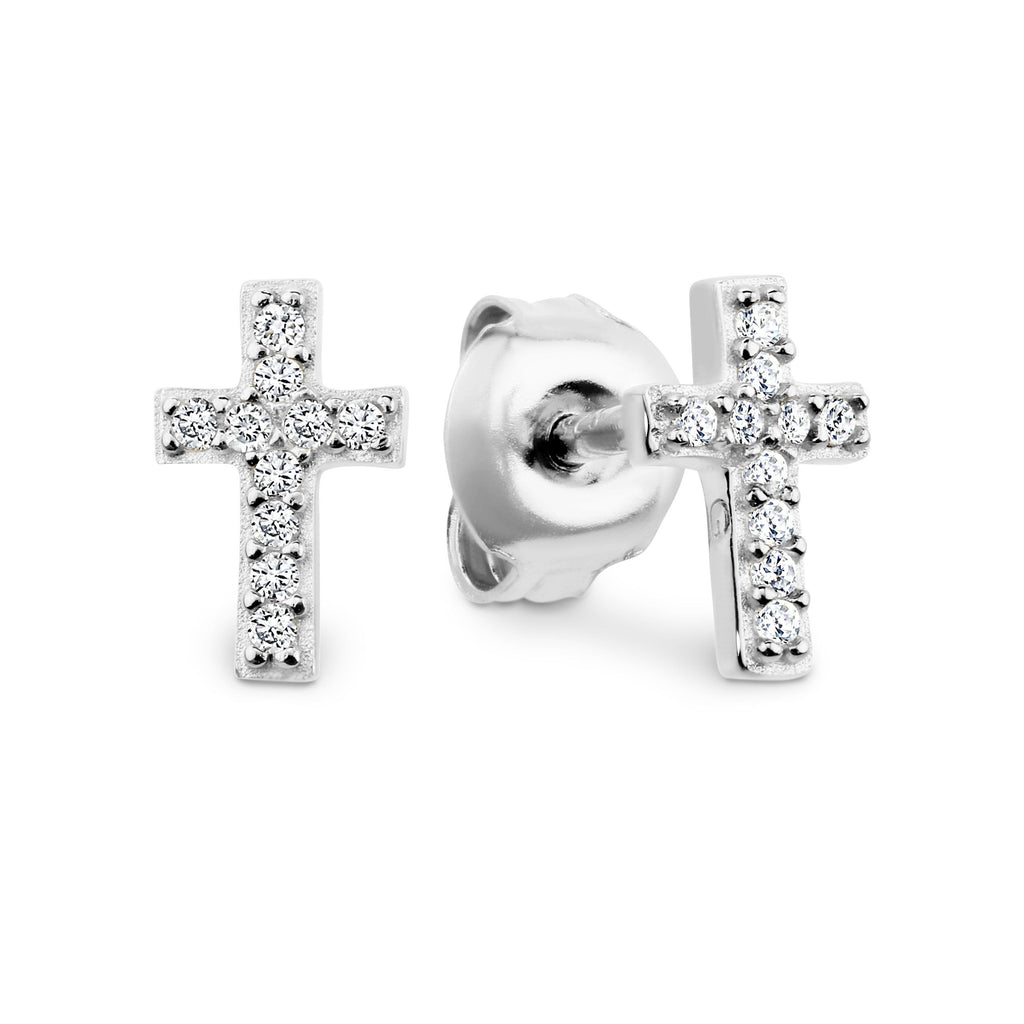 GEORGINI BABY CROSS EARRING Bevilles Jewellers