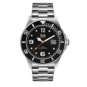 ICE Steel Black Silver Medium Men's Watch