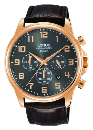 Lorus Men's Chronograph Leather Watch RT338GX-9