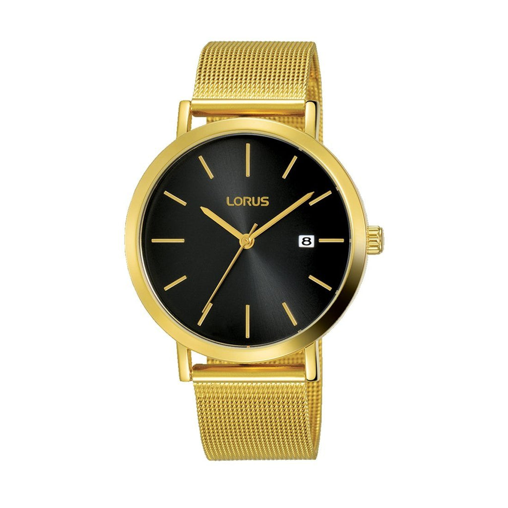 Lorus Men's Gold Plated Mesh Watch Model RH942JX9 Watches Lorus