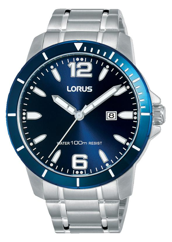 LORUS GENTS BLUE FACE STAINLESS STEEL CASE Watches Lorus