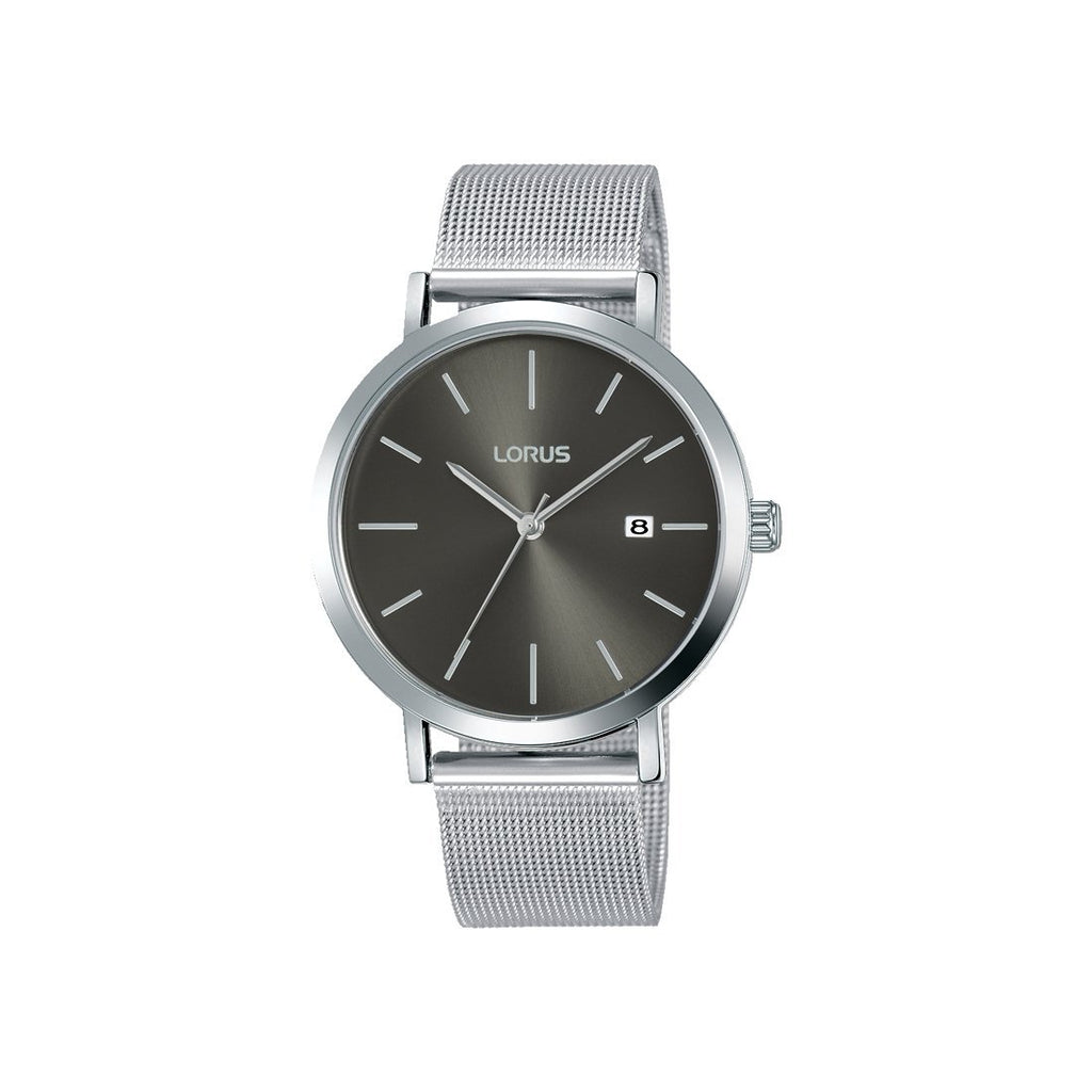 Lorus Men's Silver & Gray Mesh Watch - Model RH919KX-9 Watches Lorus