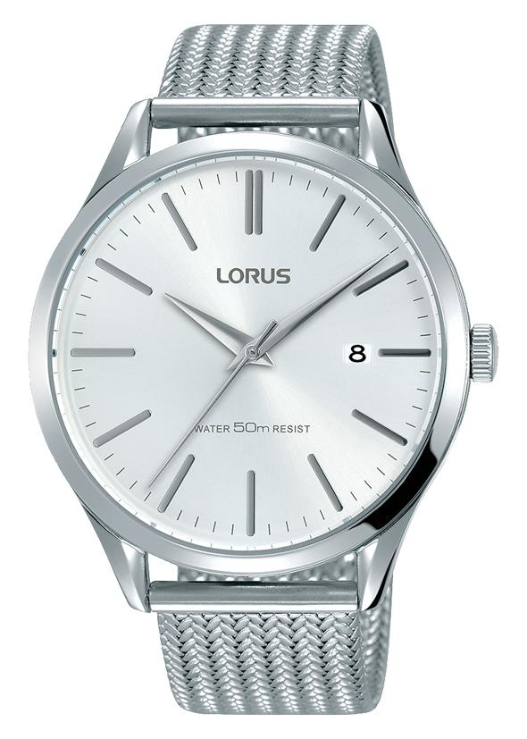 Lorus Mens White & Silver Mesh Watch RS931DX