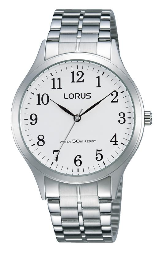 Lorus White and Silver Watch Model RRS03VX-9